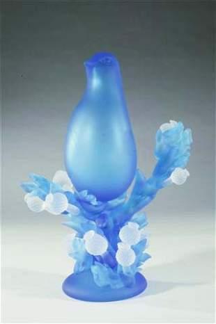 "Richard Jolley ""Aqua Dove with crystal thistle II"""