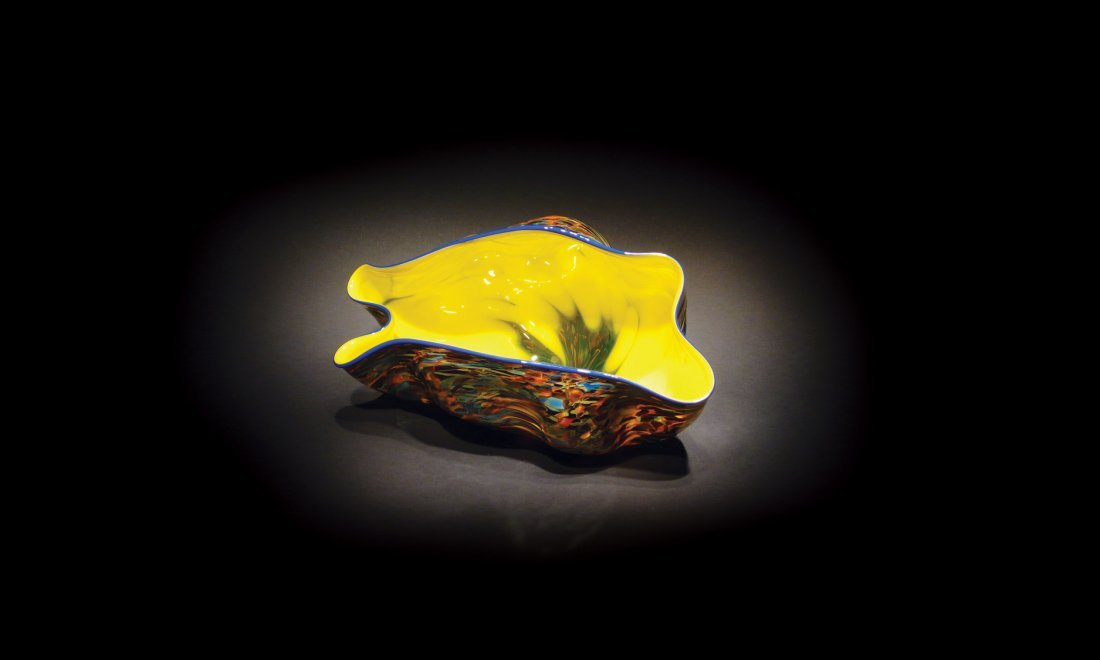 """13: Dale Chihuly """"petite macchia (spotted) with royal b"""