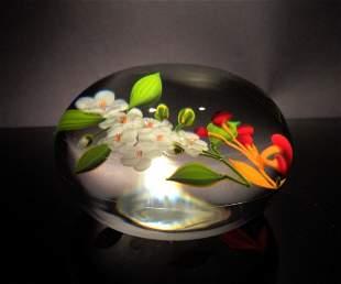 Paul Stankard 'Untitled' flower and berries
