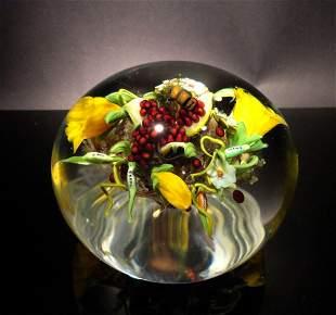 Paul Stankard 'Untitled' yellow flowers