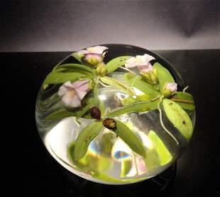 Paul Stankard 'Untitled' three pink flowers