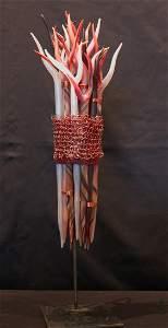 71: Elizabeth Mears, art glass, Bundle of Twigs, 2003