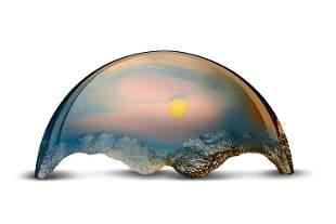 Mark Peiser Mountain SkyScape 15705 Glass Art