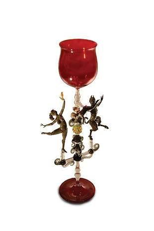 Lucio Bubacco, Red Temptation, 1996 Glass Art
