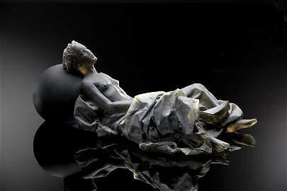 Habatat - Nicolas Africano, Reclining Figure, Glass Art