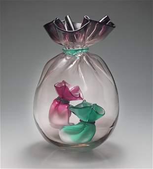 Habatat Littleton Vogel Bag in Bag 1989 Glass Art