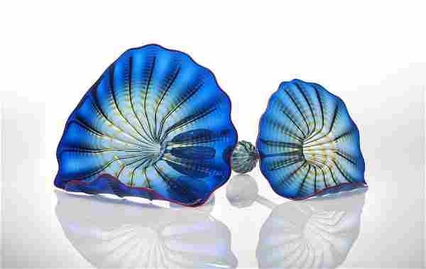 Habatat Chihuly Azzuro Blue Persia 1998 Glass Art