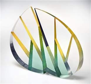 Habatat - Pavel Hlava Leaf, 1999 Glass Fine Art