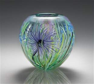 Habatat Huchthausen Floral Series, 1977 Glass Art