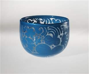 Habatat Bertil Vallien Vessel 1614 1972 Glass Art