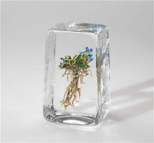 Habatat Paul Stankard Untitled F41 1989 Glass Art