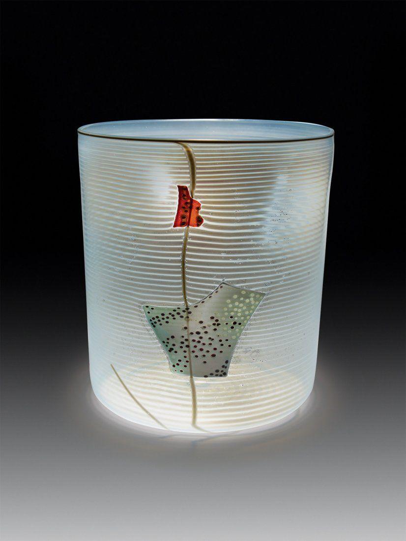Habatat Dale Chihuly Soft Cylindar 1980 Glass Art