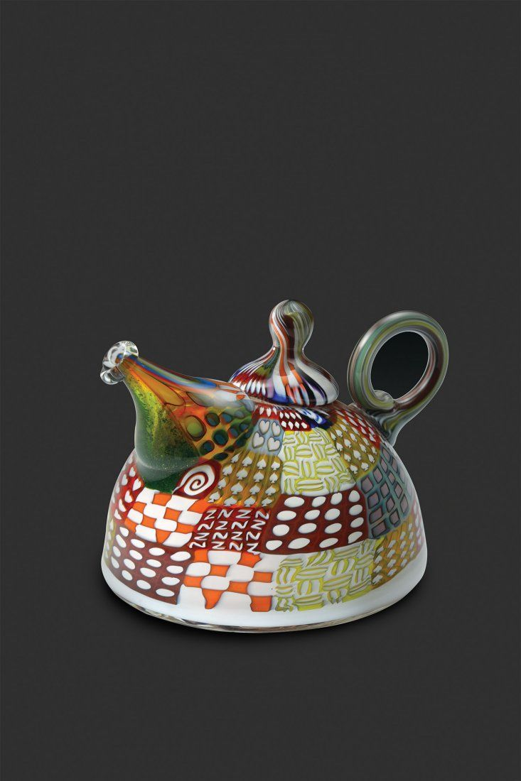 Habatat Richard Marquis Small Teapot 1989 Glass