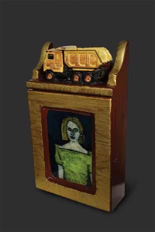 Habatat Gregory Grenon Yellow Truck 2001 Glass