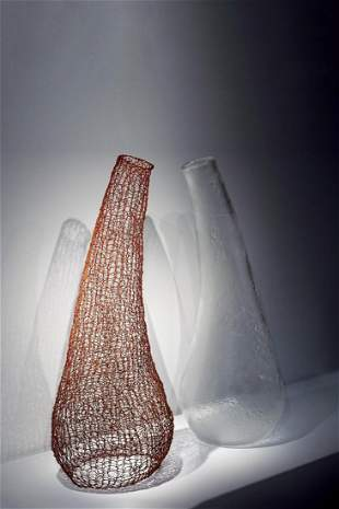 Habatat Carole Freve Attraction 2001 Glass Art