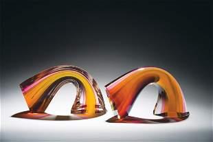 Habatat Harvey Littleton Sectioned Arc 1980 Glass