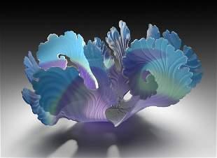 Janet Kelman Aqua Seaform Glass Art Habatat