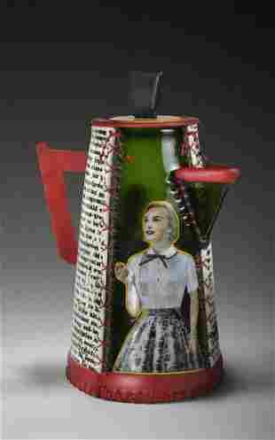 SusanT Glasgow Happy Coffee Pot Glass Art Habatat