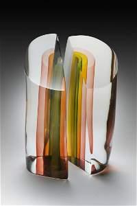 Harvey Littleton Elliptical Section Glass Art Habatat