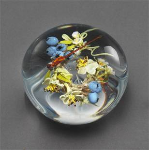 Paul Stankard Blueberry Glass Paperweight Art Habatat