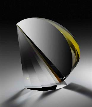 Martin Rosol Gold Wing unique Glass Art Habatat