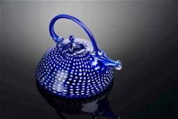 Richard Marquis Blue Teapot 1979 Glass Habatat