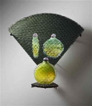 Judith LaScola Green Leaves Glass Art Habatat