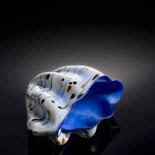 Dale Chihuly Blue Macchia Glass Art Habatat