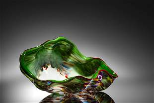 Dale Chihuly Sap Green Macchia Glass Habatat
