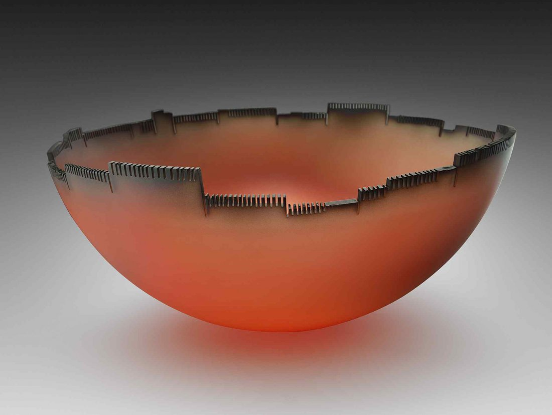 Jay Musler Architectural Bowl Glass Art Habatat