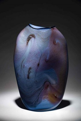 William Morris Vessel 1981 Glass Art Habatat