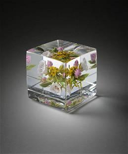 Paul Stankard Mountain Laurel Art Glass Habatat