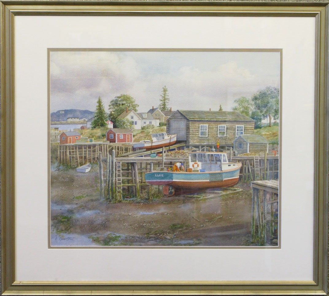 Low Tide, Beals Isle, Lobster Boat