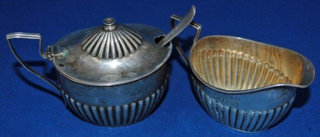 5: Gorham Sterling Mustard Pot & Creamer