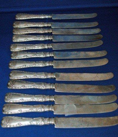 8: Set of Twelve (12) Tiffany & Co. Sterling Knives