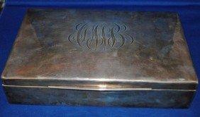 9: Black Starr & Frost Sterling Cigar Box