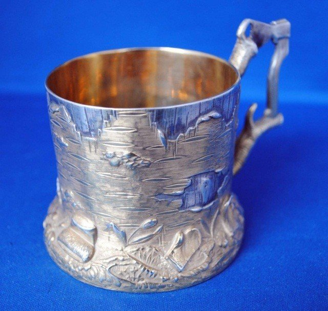 12: Russian Silver Tea Glass Holder