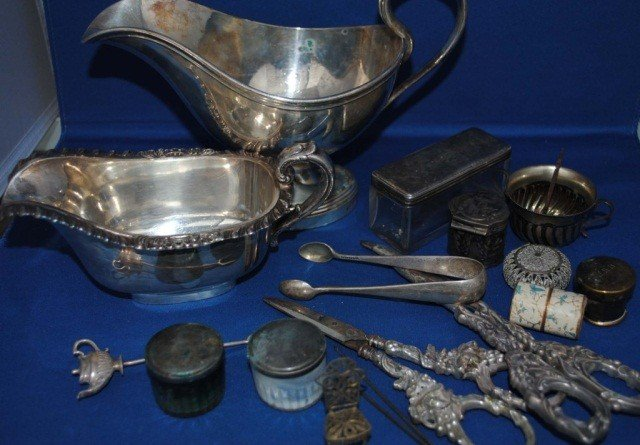 18: Assorted Sterling Silver and Plated Articles