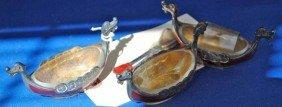 23: Set of 3 Sterling Silver Open Salts w/ Spoons