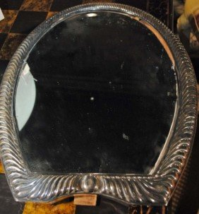 24: Silver Plated Framed Table Mirror