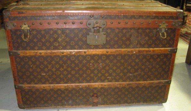 36: Vintage Louis Vuitton Steamer Trunk