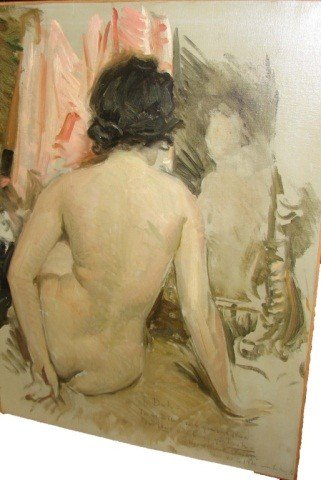 168: Oil Painting - Nude, Howard Chandler Christy