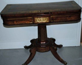 285: Regency Rosewood Console Game Table