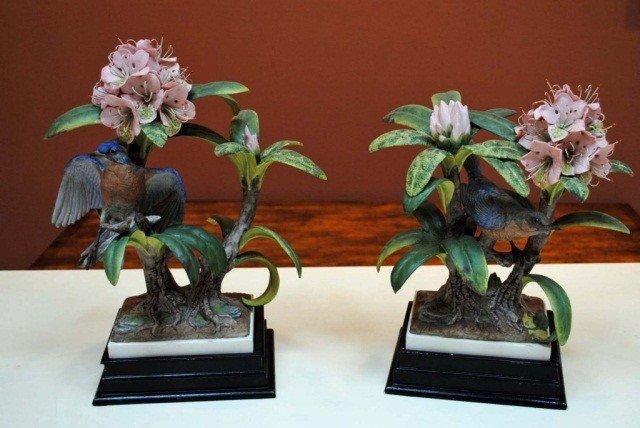 4: Pair of Boehm Birds in Flowers