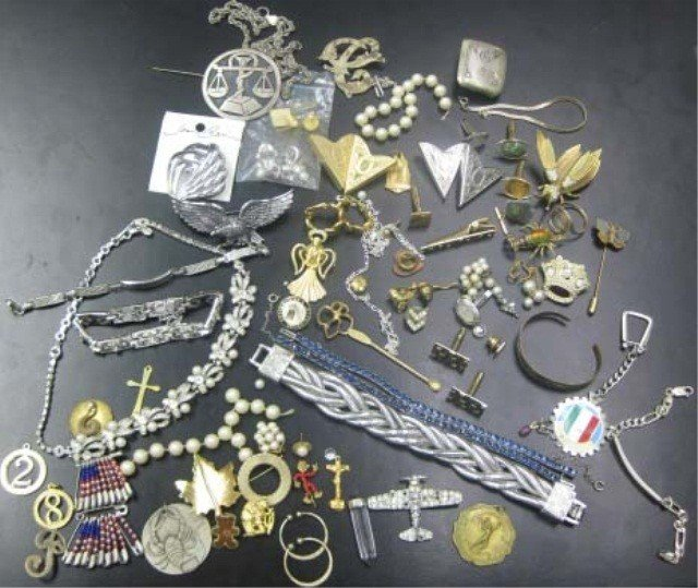 14: Collection of Costume and Sterling Silver Jewelry
