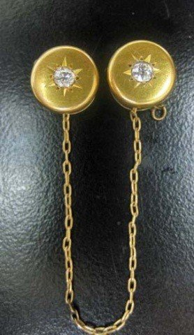 19: Victorian Style Gold and Diamond Jacket Clip