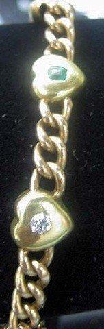 27: 2-Tone 14K Gold Bracelet set with Stones