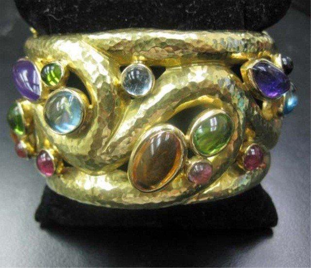 28: Large 18K Gold Cuff Bracelet
