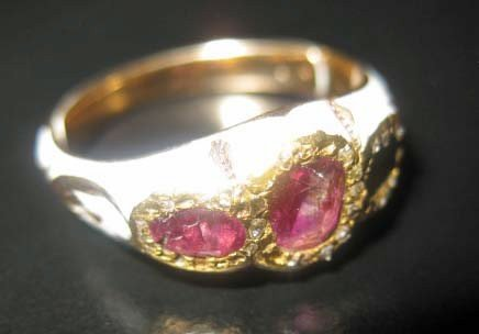 35: Russian Enameled 14K Gold Ring