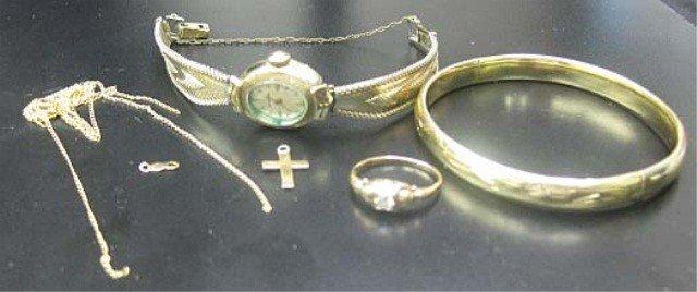 36: Assorted 14K Gold Jewelry, etc.